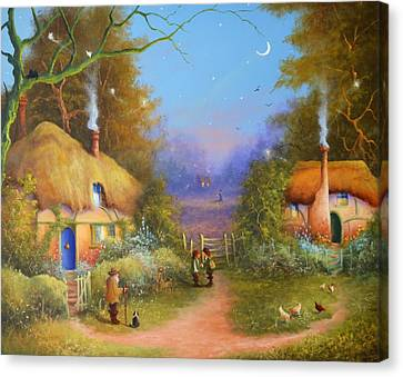 The Hamlet Of Gnarl Mid Summers Eve Canvas Print