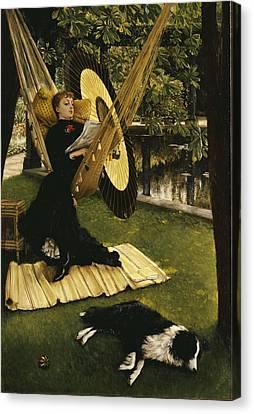The Hammock Canvas Print by James Jacques Joseph Tissot