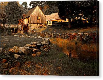 Old Mill Scenes Canvas Print - The Hammond Gristmill by Lourry Legarde