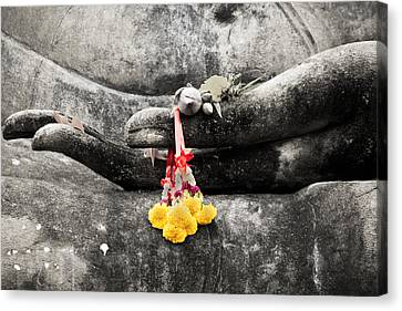 Thai Canvas Print - The Hand Of Buddha by Adrian Evans