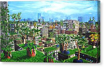 The Hanging Gardens. Canvas Print by Samuel Miller