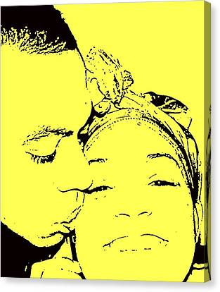 The Happy Couple  Canvas Print by D R TeesT