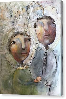 The Happy Couple Canvas Print by Eleatta Diver