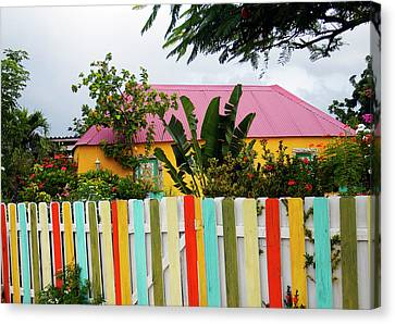 Canvas Print featuring the photograph The Happy House, Island Of Curacao by Kurt Van Wagner