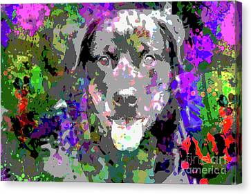 The Happy Rottweiler Canvas Print by Jon Neidert