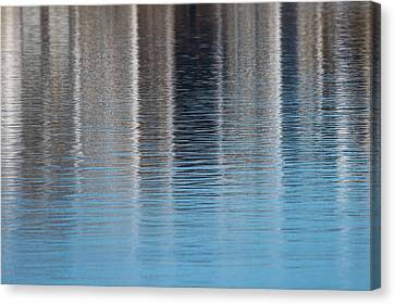 The Harbor Reflects Canvas Print by Karol Livote