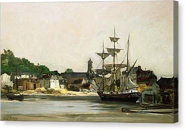 The Harbour At Honfleur Canvas Print by Karl Pierre Daubigny