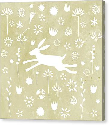 The Hare In The Meadow Canvas Print by Nic Squirrell