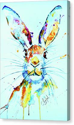 Canvas Print featuring the painting The Hare by Steven Ponsford