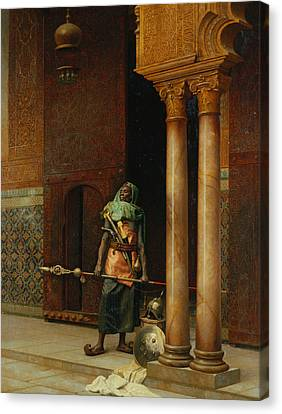 The Harem Guard  Canvas Print by Ludwig Deutsch