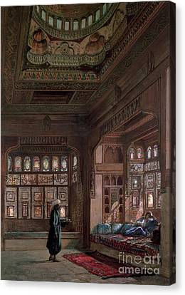 The Harem Of Sheikh Sadat, Cairo, 1870 Canvas Print by Frank Dillon
