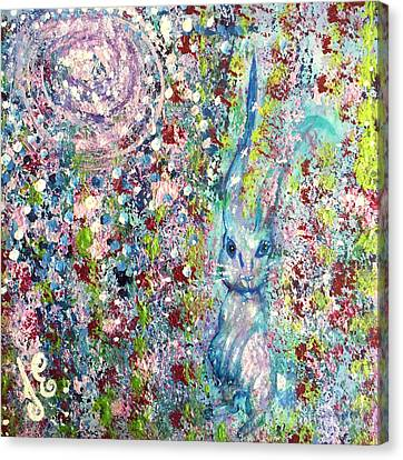 The Hare's Meadow Canvas Print
