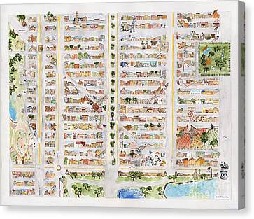 The Harlem Map Canvas Print by AFineLyne