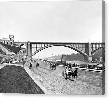 The Harlem River Speedway Canvas Print by William Henry jackson