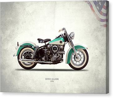 The Harley Duo-glide 1958 Canvas Print by Mark Rogan