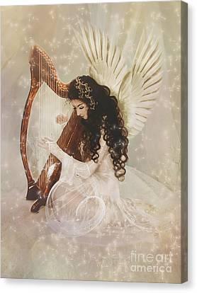 Harp Canvas Print - The Harpist by Babette Van den Berg