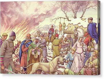 The Harrying Of The North Canvas Print by Pat Nicolle