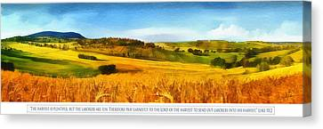Jesus Canvas Print - The Harvest Is Plentiful by Dale Jackson