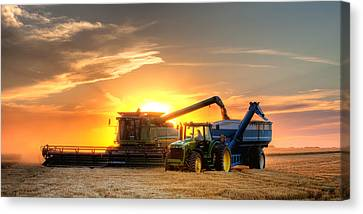 St Canvas Print - The Harvest by Thomas Zimmerman
