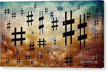 The Hashtag Storm Canvas Print by Andee Design