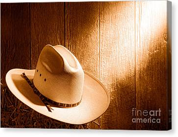 The Hat - Sepia Canvas Print