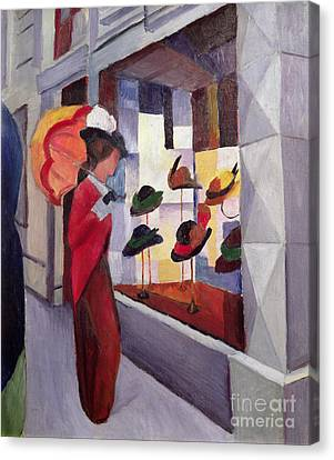 The Hat Shop Canvas Print by August Macke