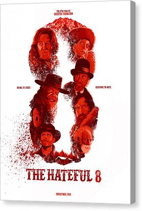 The Hateful 8 Alternative Poster Canvas Print by Christopher Ables