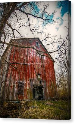 The Haunted Barn Canvas Print by Linda Unger