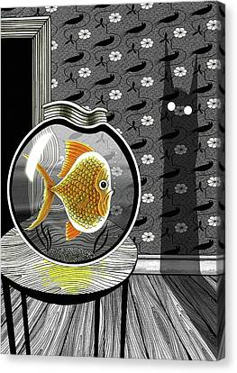 The Haunted Goldfish Bowl  Canvas Print by Andrew Hitchen