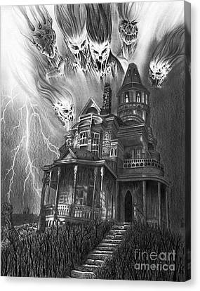 The Haunted House Canvas Print by Wave Art