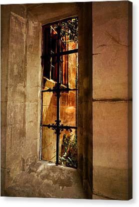 Medieval Entrance Canvas Print - The Haunted Window by Connie Handscomb