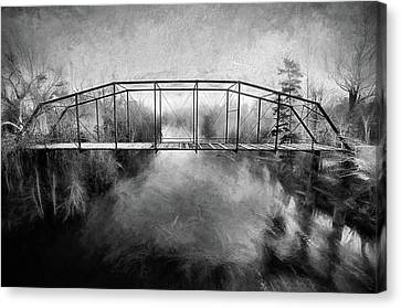 Canvas Print featuring the digital art The Haunting by JC Findley