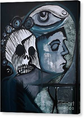 The Haunting Of Jodi Canvas Print by Michael Kulick