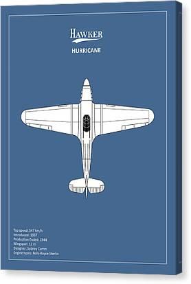 Raf Canvas Print - The Hawker Hurricane by Mark Rogan