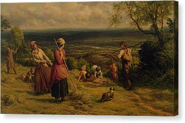 The Haymakers Canvas Print by James Thomas Linnell