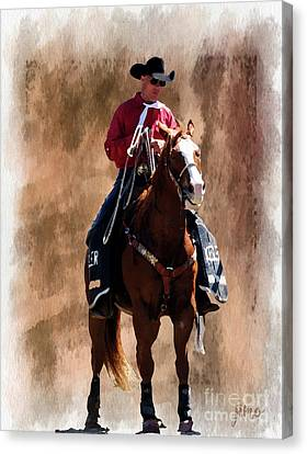 Bulls Canvas Print - The Hazer by Jim  Hatch