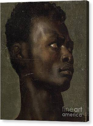 The Head Of An African Canvas Print