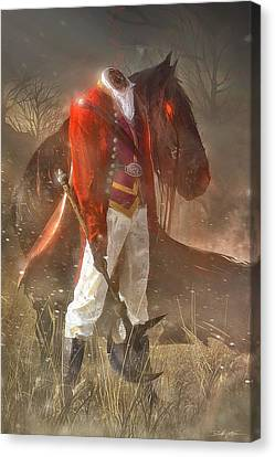 The Headless Horseman Canvas Print by Sheila Mcdonald