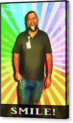 Canvas Print featuring the mixed media The Healing Smile Mosaic by Shawn Dall
