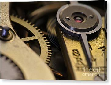 The Heart Of A Watch 2 Canvas Print by Angelo DeVal