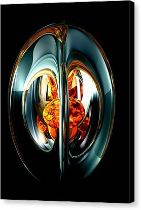 The Heart Of Chaos Abstract Canvas Print by Alexander Butler