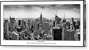 The Heart Of New York Poster Print Canvas Print by Az Jackson