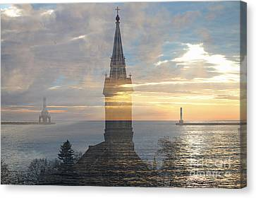 Port Town Canvas Print - The Heart Of Port Washington by Eric Curtin