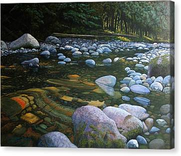 The Heart Of Quartz Creek Canvas Print by Ron Smothers