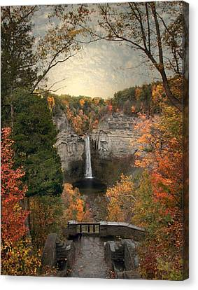 Finger Lakes Canvas Print - The Heart Of Taughannock by Jessica Jenney