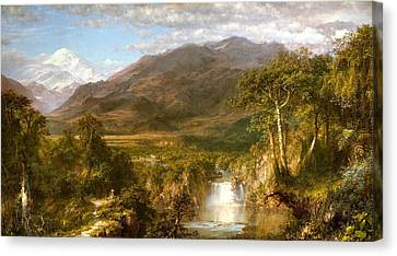 The Heart Of The Andes Canvas Print