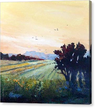 Canvas Print featuring the painting The Heartland by Helen Harris