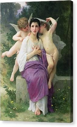 The Hearts Awakening Canvas Print by William Adolphe Bouguereau