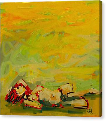 Canvas Print featuring the digital art The Heat Of Summer by Jim Vance