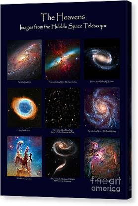 Canvas Print featuring the photograph The Heavens - Images From The Hubble Space Telescope by David Perry Lawrence